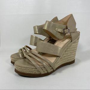 Fergie Annabelle Espadrille Wedge Heel Sandals 8.5